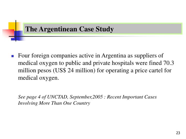 The Argentinean Case Study