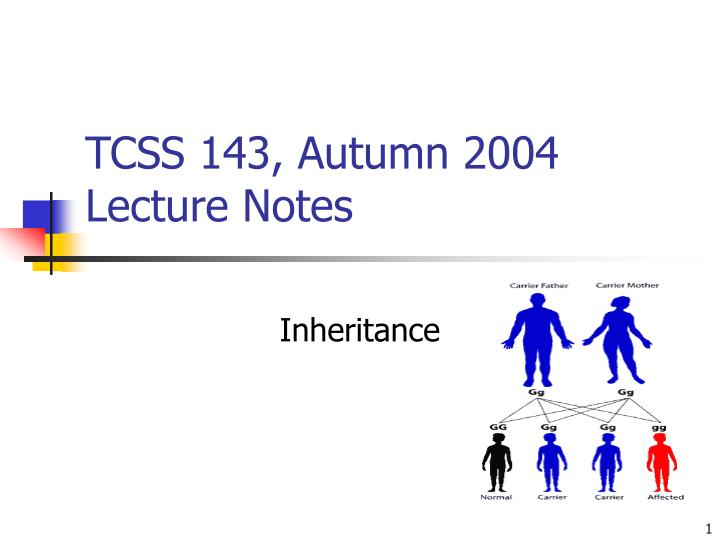 Tcss 143 autumn 2004 lecture notes