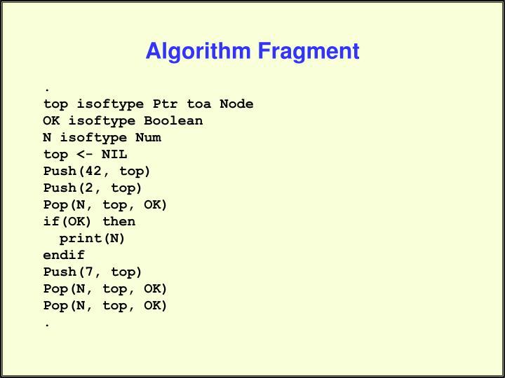 Algorithm Fragment