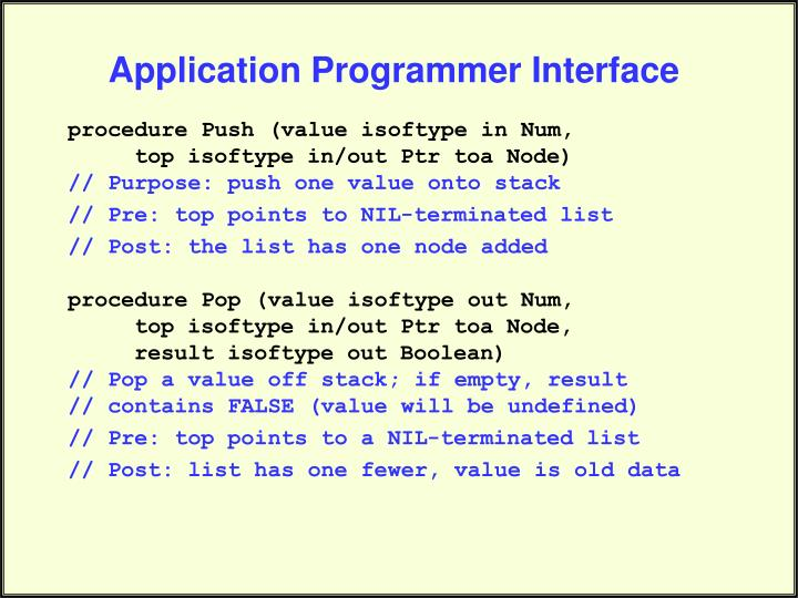 Application Programmer Interface
