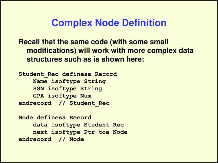 Complex Node Definition