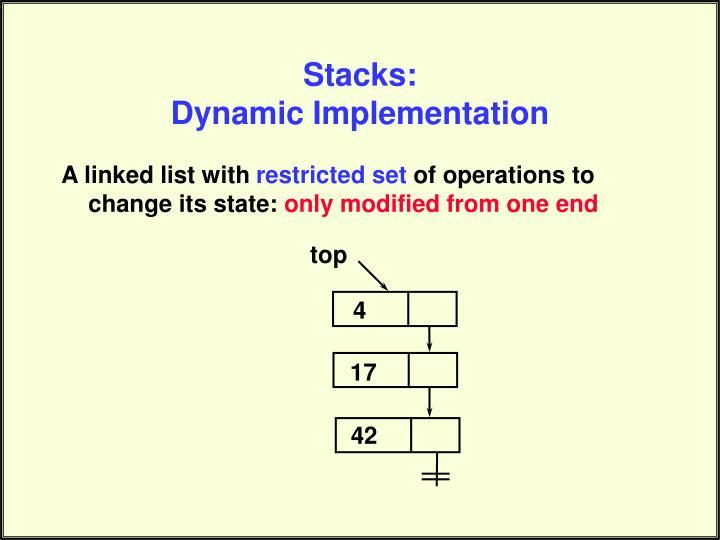 Stacks: