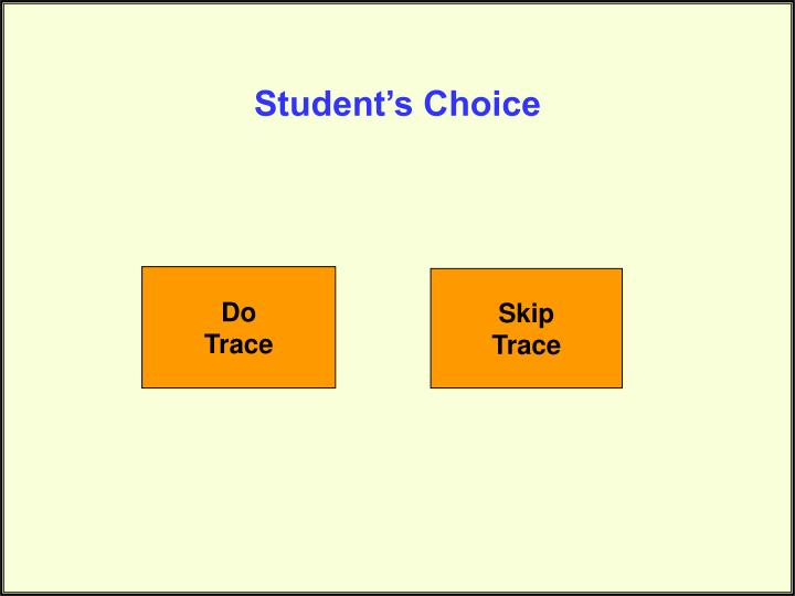 Student's Choice