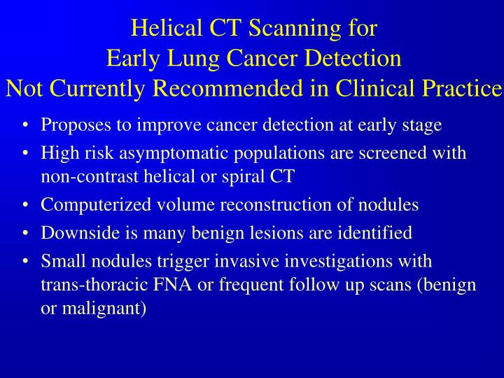 Helical CT Scanning for