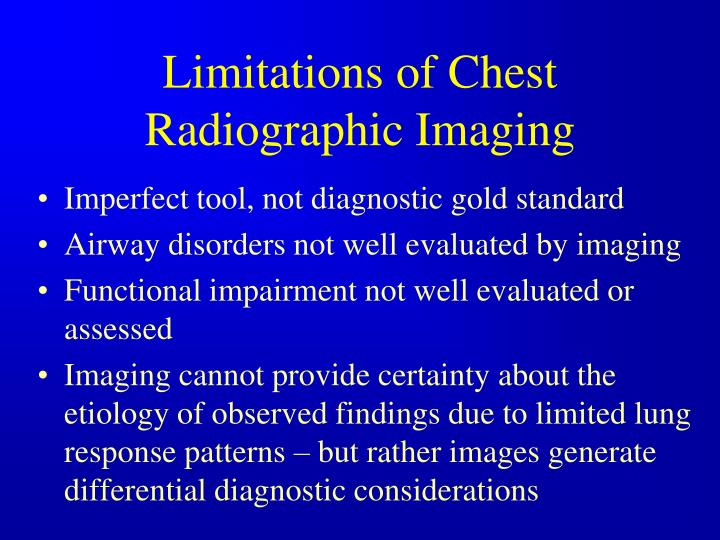 Limitations of Chest Radiographic Imaging