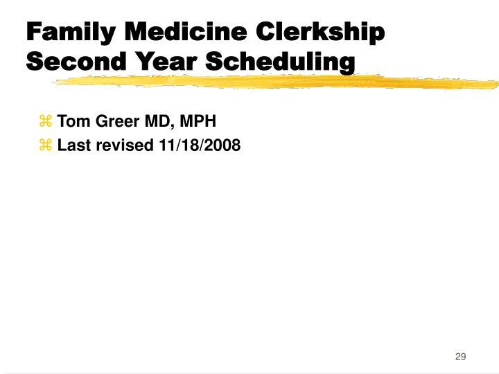 Family Medicine Clerkship