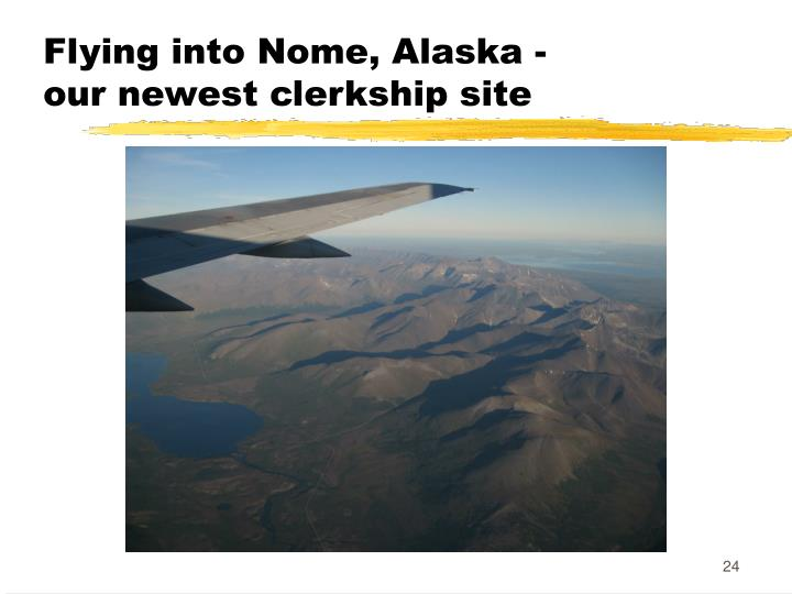 Flying into Nome, Alaska -