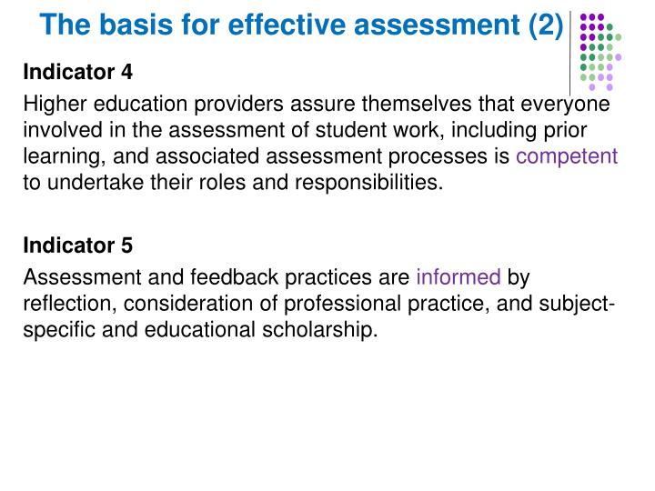 The basis for effective assessment (2)