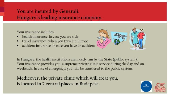 You are insured by Generali