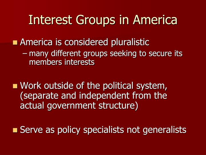 Interest Groups in America