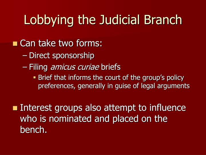 Lobbying the Judicial Branch