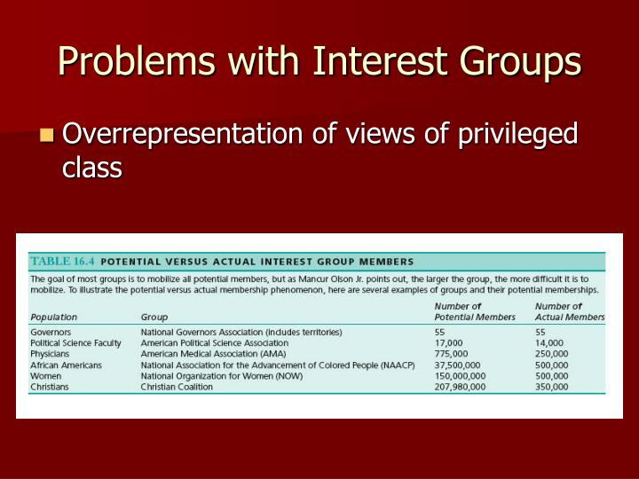 Problems with Interest Groups