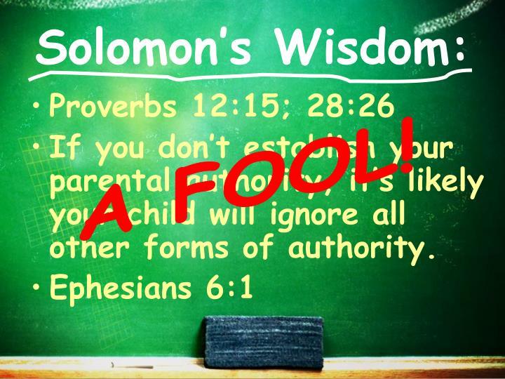Solomon's Wisdom:
