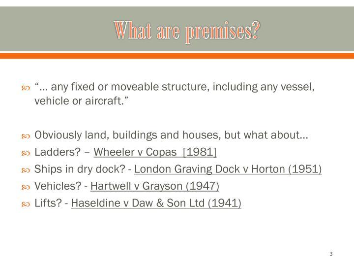 What are premises?
