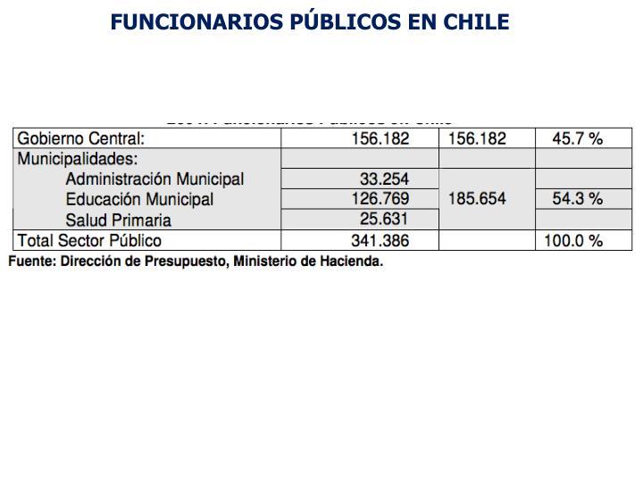 FUNCIONARIOS PÚBLICOS EN CHILE