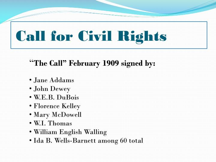 Call for Civil Rights