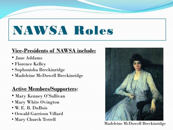 NAWSA Roles