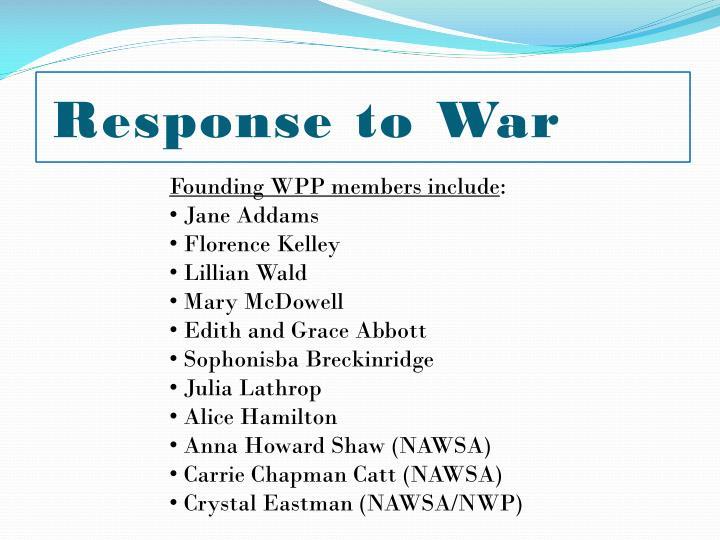Response to War
