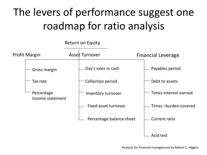 The levers of performance suggest one roadmap for ratio analysis