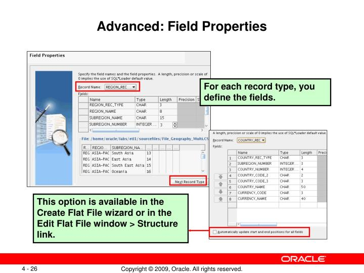 Advanced: Field Properties