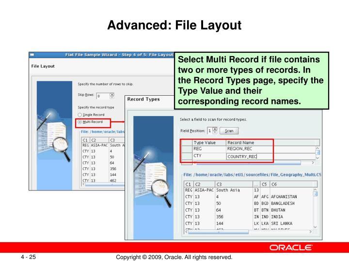 Advanced: File Layout