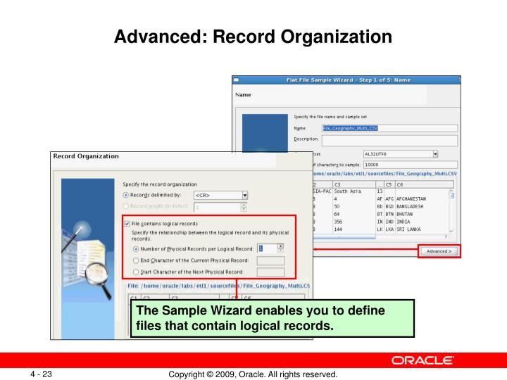Advanced: Record Organization