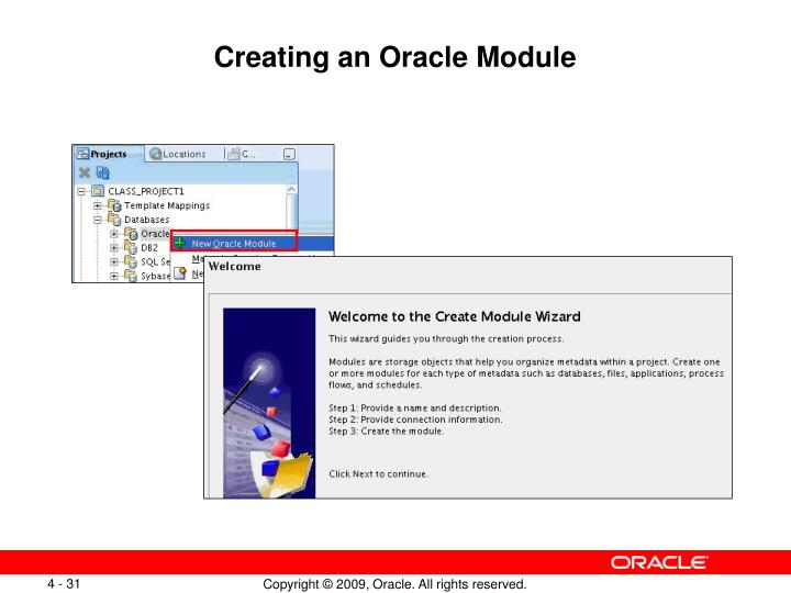 Creating an Oracle Module