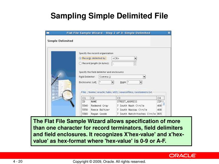 Sampling Simple Delimited File