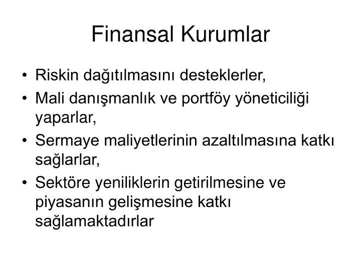 Finansal Kurumlar