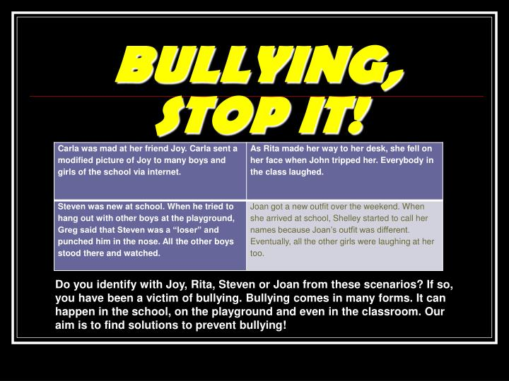Bullying stop it1