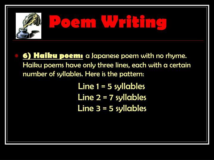 Poem Writing