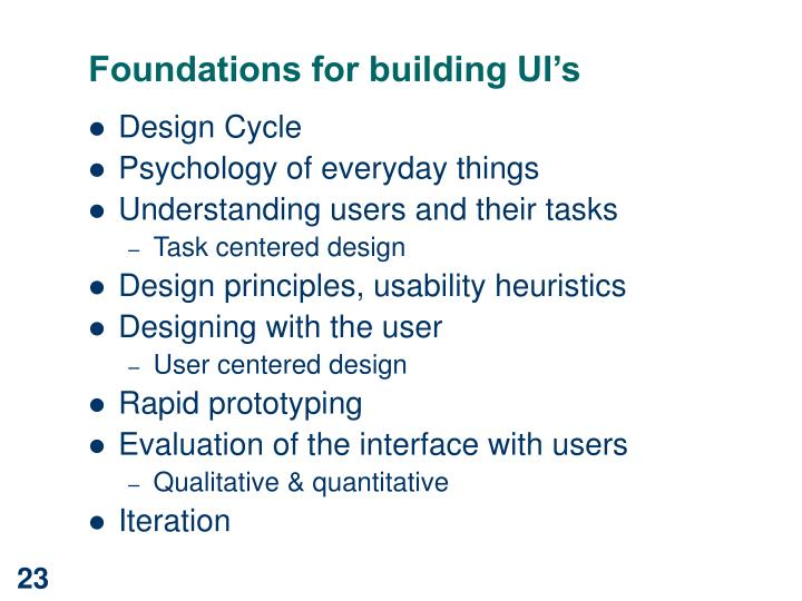 Foundations for building UI's