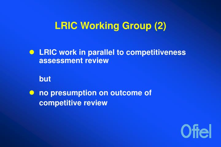 LRIC Working Group (2)