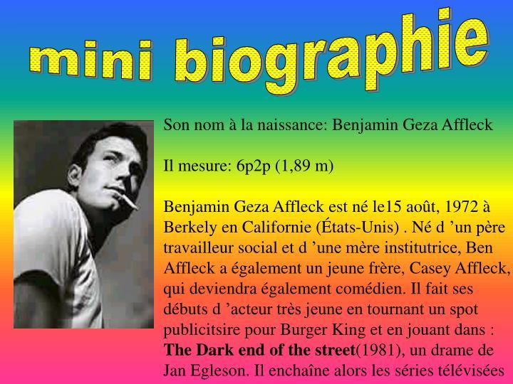 mini biographie