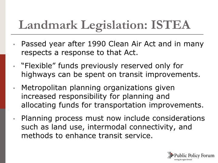 Landmark Legislation: ISTEA