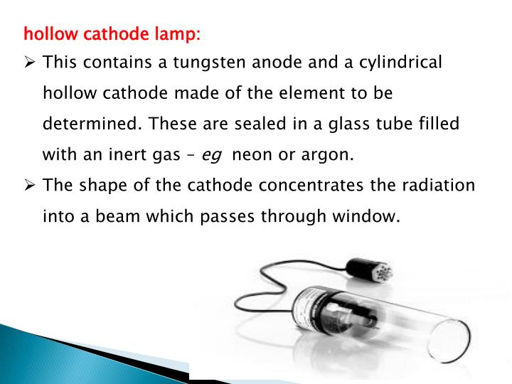 hollow cathode lamp: