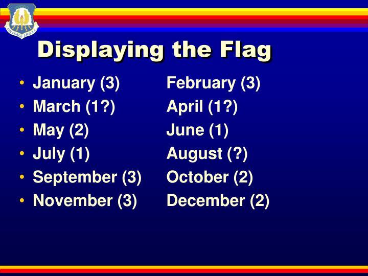 Displaying the Flag