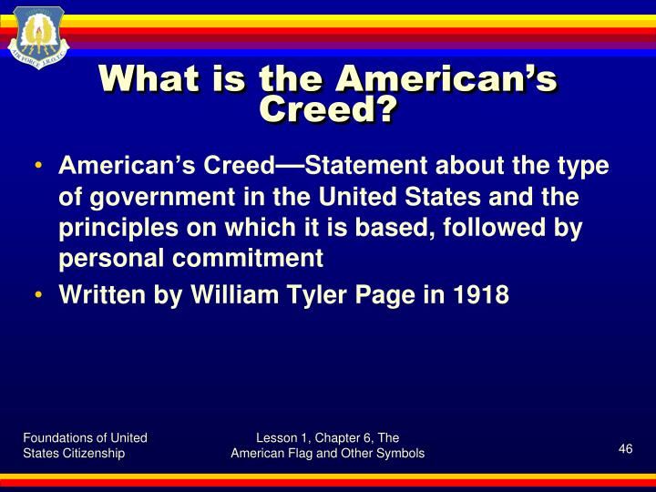 What is the American's Creed?