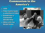 communism in the america s