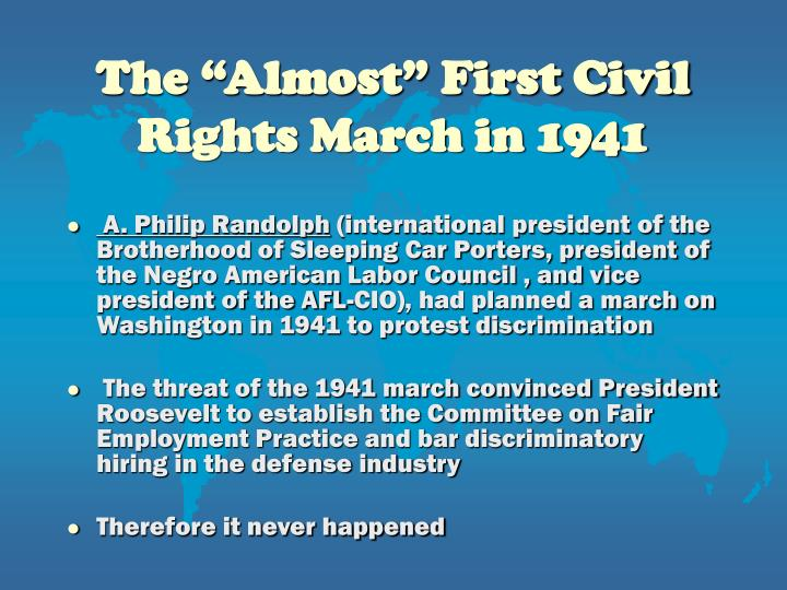 "The ""Almost"" First Civil Rights March in 1941"