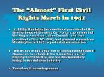 the almost first civil rights march in 1941