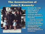 the assassination of john f kennedy