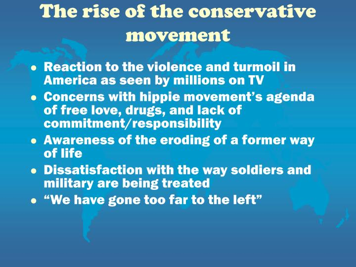 The rise of the conservative movement