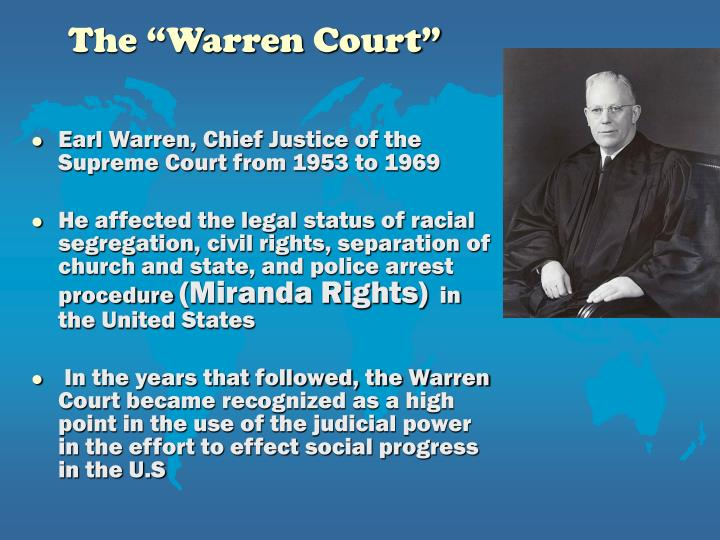 "The ""Warren Court"""