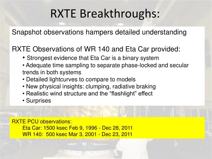 RXTE Breakthroughs: