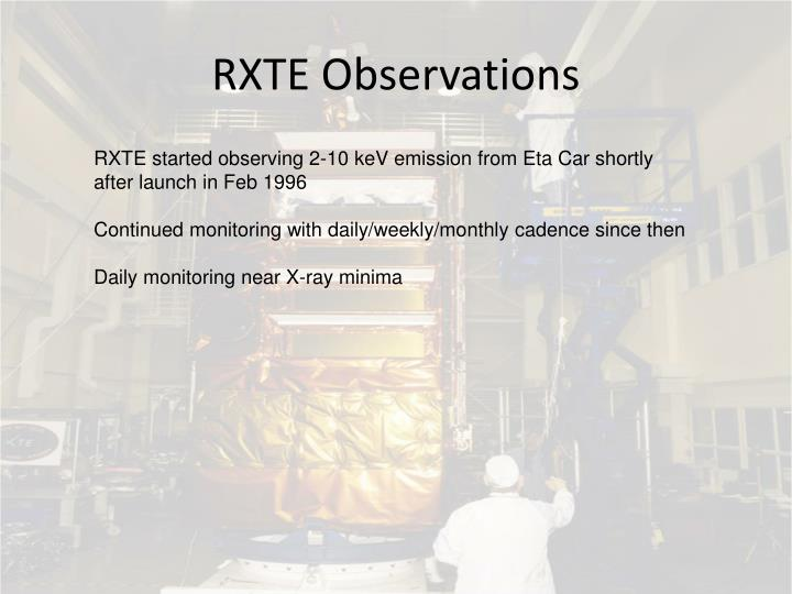 RXTE Observations