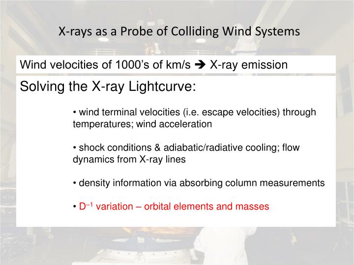 X-rays as a Probe of Colliding Wind Systems