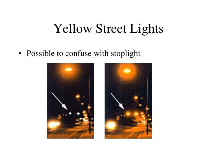 Yellow Street Lights