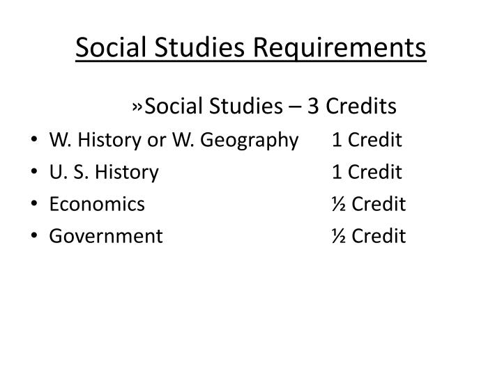 Social Studies Requirements