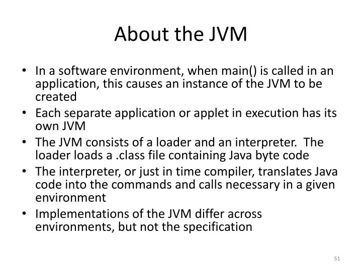About the JVM